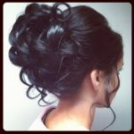 Curly Hair Bun Great For Wedding Hairstyles Curly Bun Hairstyles Curly Hair Bun Hairstyles