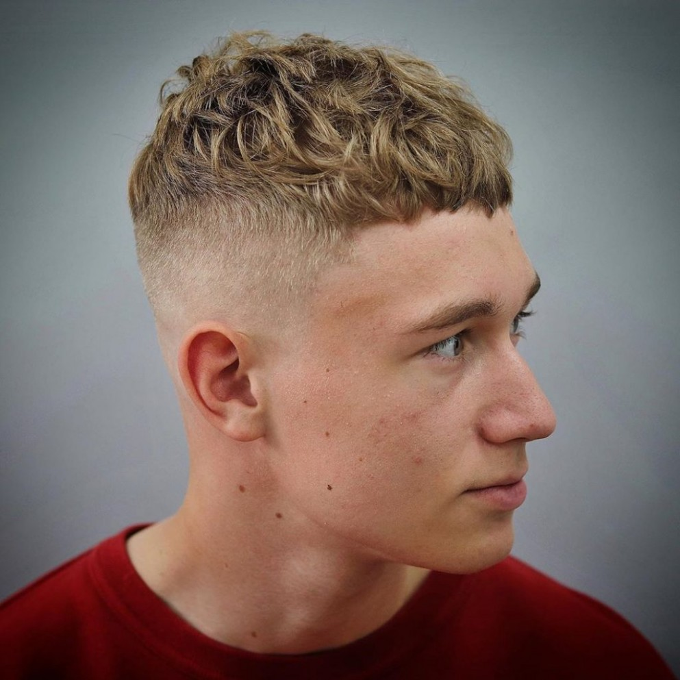 Curly Hair Fade Haircut: 10 Cool Styles For 10 Curly Crop Haircut