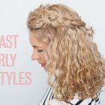 Curly Hairstyles In Seconds! Two Fast Half Up Hairstyles Half Up Half Down Short Curly Hair