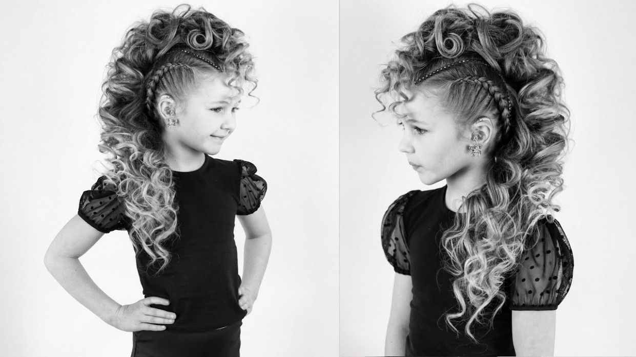 Curly Mohawk with Braids