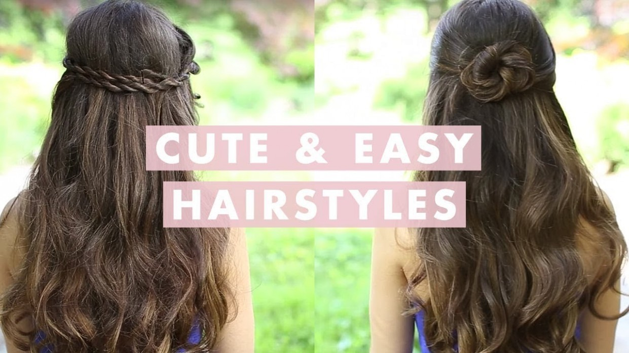 Cute And Easy Hairstyles Cute Hairstyles For Girls With Long Hair