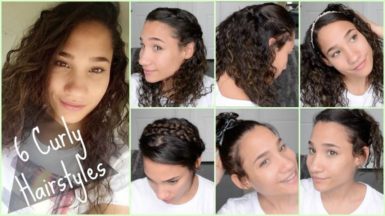 Cute Curly Hairstyles For Back To School Quick And Easy Curly Curly Hairstyles For School