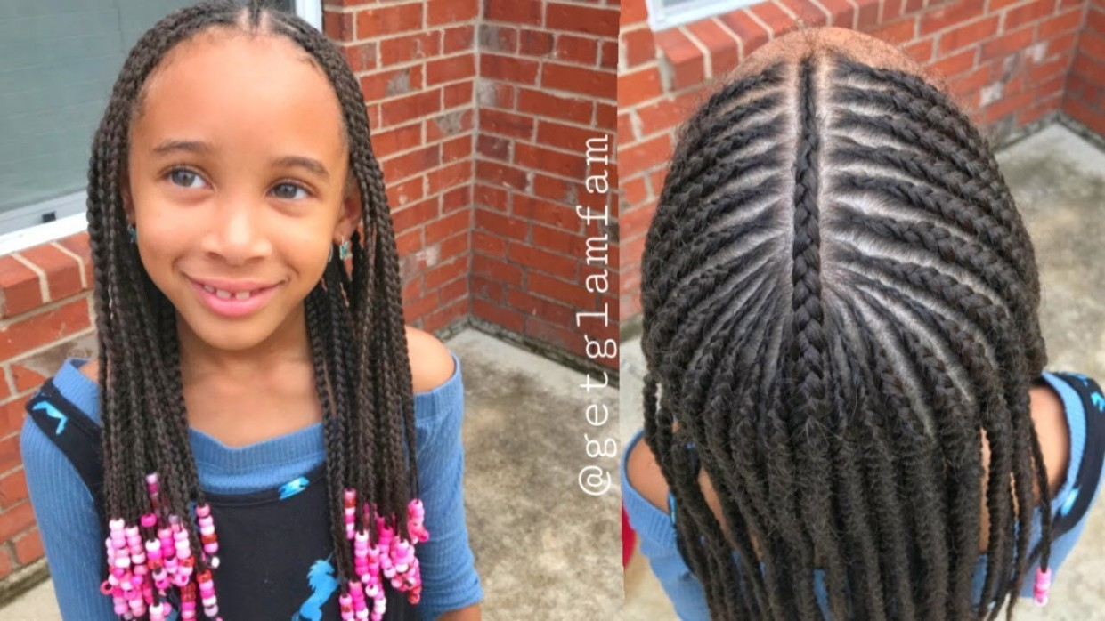 Cute Kids Braids With Beads Braids For Kids With Long Hair