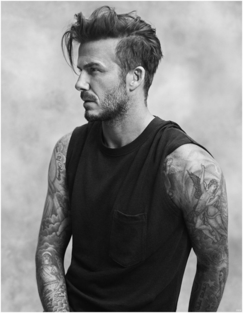 David Beckham Hairstyle Evolution Pictures Throughout Mens Men Long Hair Shaved Sides