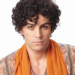 Details About ADULT MENS PERSIAN PRINCE 8S 8S MALE SHORT CURLY COSTUME WIG BROWN JHERI CURLS 60S Curly Hair