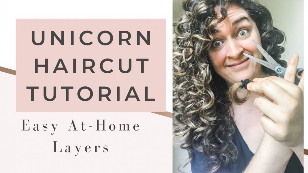 DIY Unicorn Ponytail Haircut method  HOW TO GET LAYERS IN CURLY HAIR