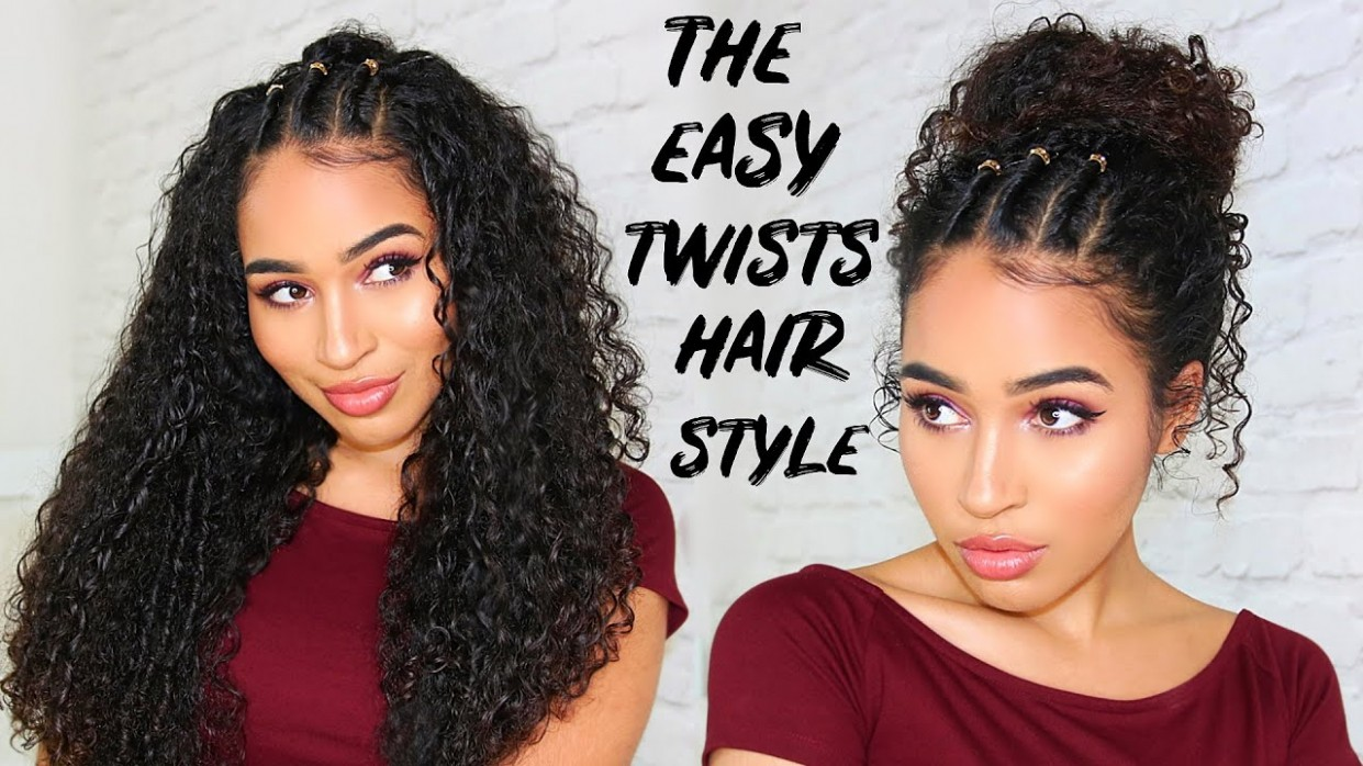 EASY 12/12s TWISTS HAIRSTYLE FOR CURLY HAIR - Lana Summer
