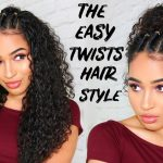 EASY 8/8s TWISTS HAIRSTYLE FOR CURLY HAIR Lana Summer Cute And Easy Hairstyles For Curly Hair