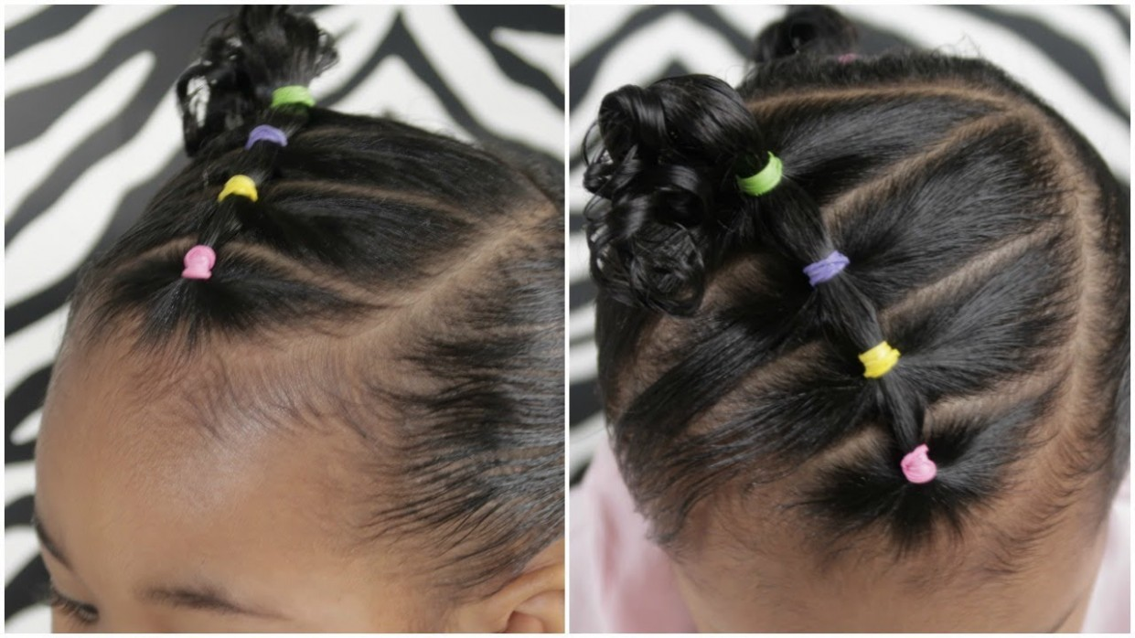 EASY 8 Minute Toddler Hairstyle Biracial Hairstyles For Toddlers