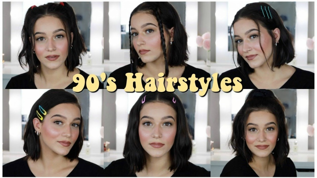 Easy 9's Inspired Hairstyles For Short Hair! 90S Short Hairstyles