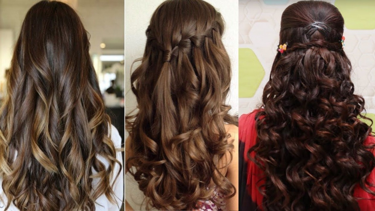 Easy Hairstyles For Curly Hair Cute Hairstyles For Curly Hair Simple Hairstyle For Curly Hair At Home