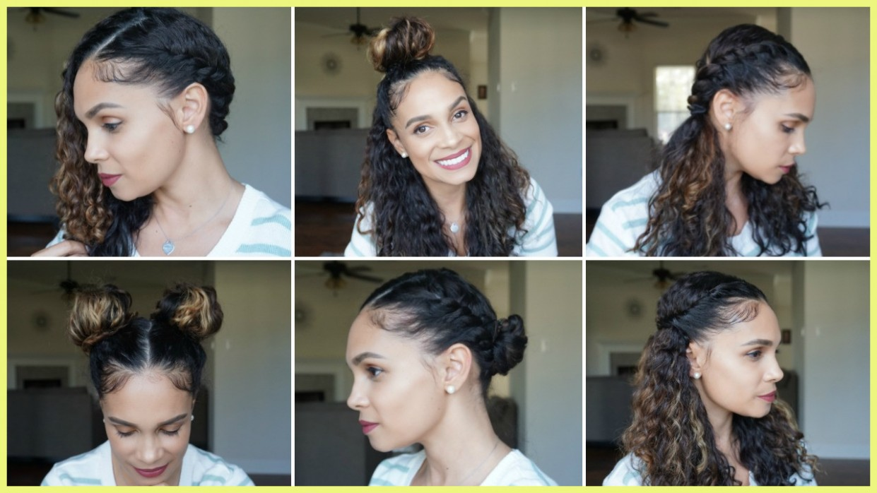 Easy Hairstyles For Short Curly Hair To Do At Home 12 Curly Easy Hairstyles For Short Curly Hair