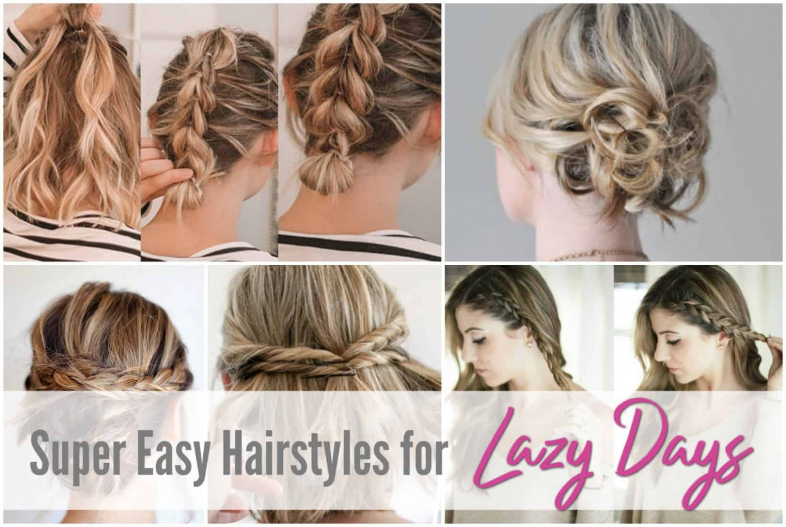 Easy Hairstyles For Short To Medium Length Hair See Mama Go Lazy Hairstyles For Short Hair