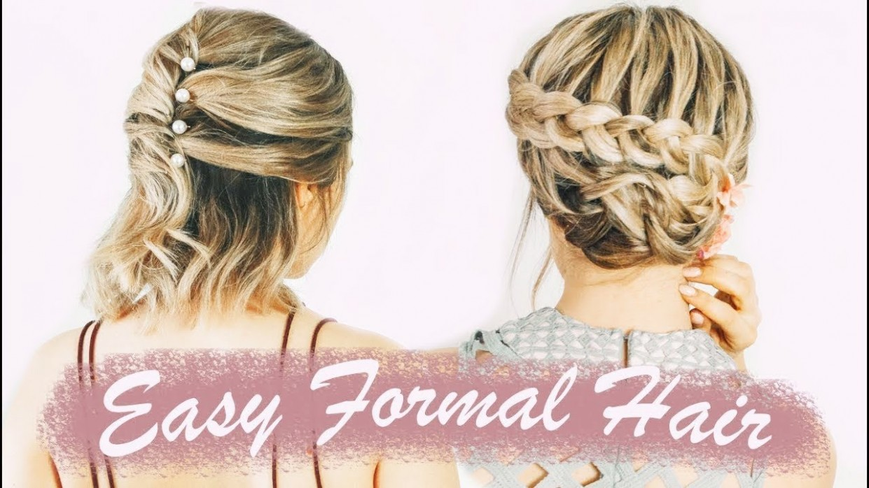 Easy Short Hairstyles For Prom (& Weddings, & Formals!) KayleyMelissa Short Prom Hairstyles