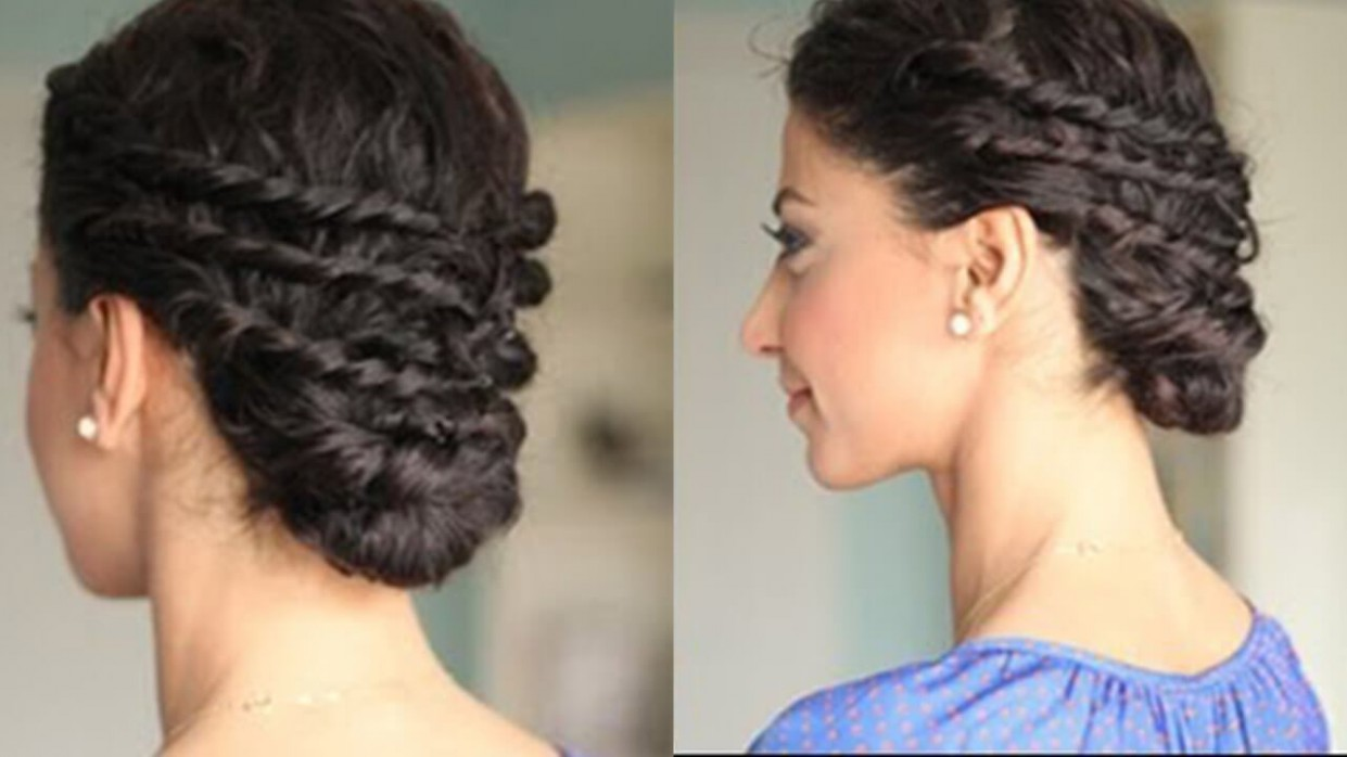 Easy Updo For Naturally Curly Hair Easy Curly Hair Updos