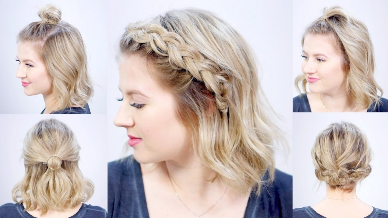 FIVE 10 MINUTE SUPER EASY HAIRSTYLES Milabu Cute Hairstyles For Really Short Hair