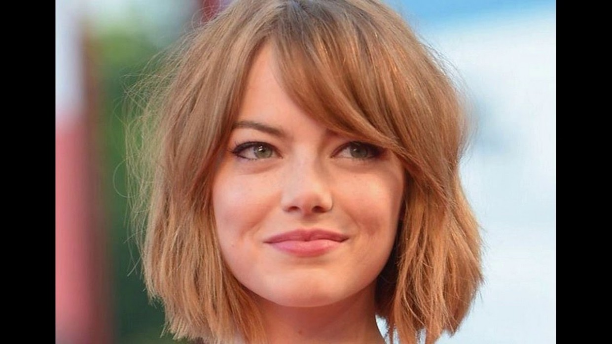 For Short Hair Round Face Best Suitable Haircut Is Side Swept Side Swept Bangs For Round Face