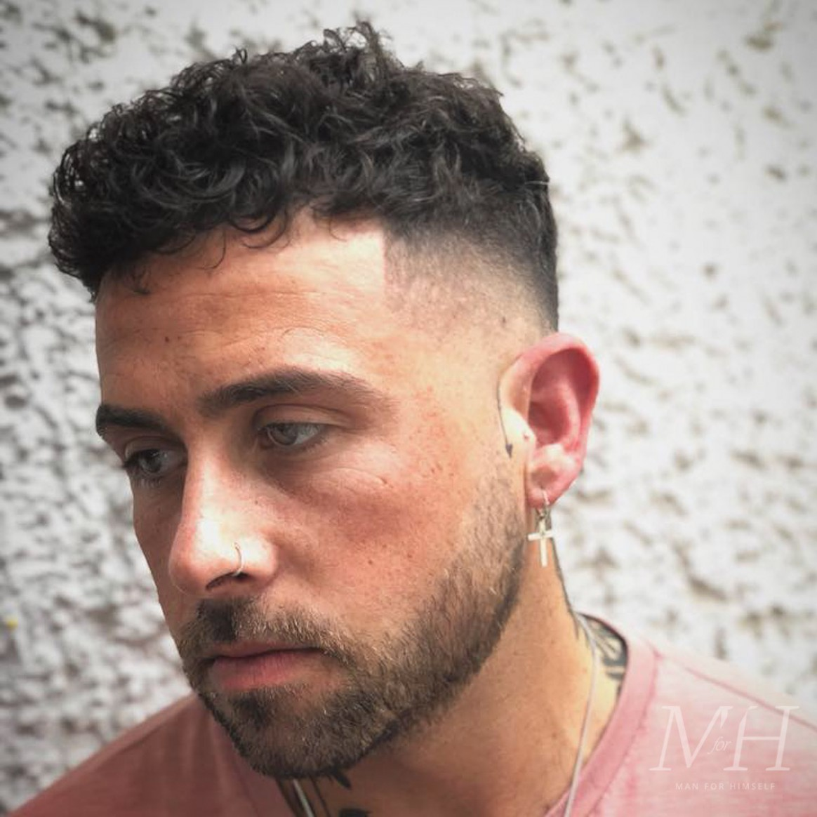 French Crop With Curly Hair Man For Himself Curly Crop Haircut