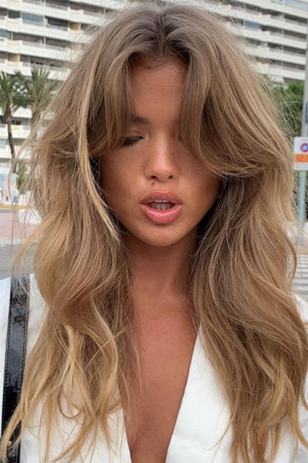 Fringe Hairstyles From Choppy To Side Swept Bangs Glamour UK Long Hair Curtain Bangs
