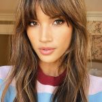 Fringe Hairstyles From Choppy To Side Swept Bangs Glamour UK Long Parted Bangs