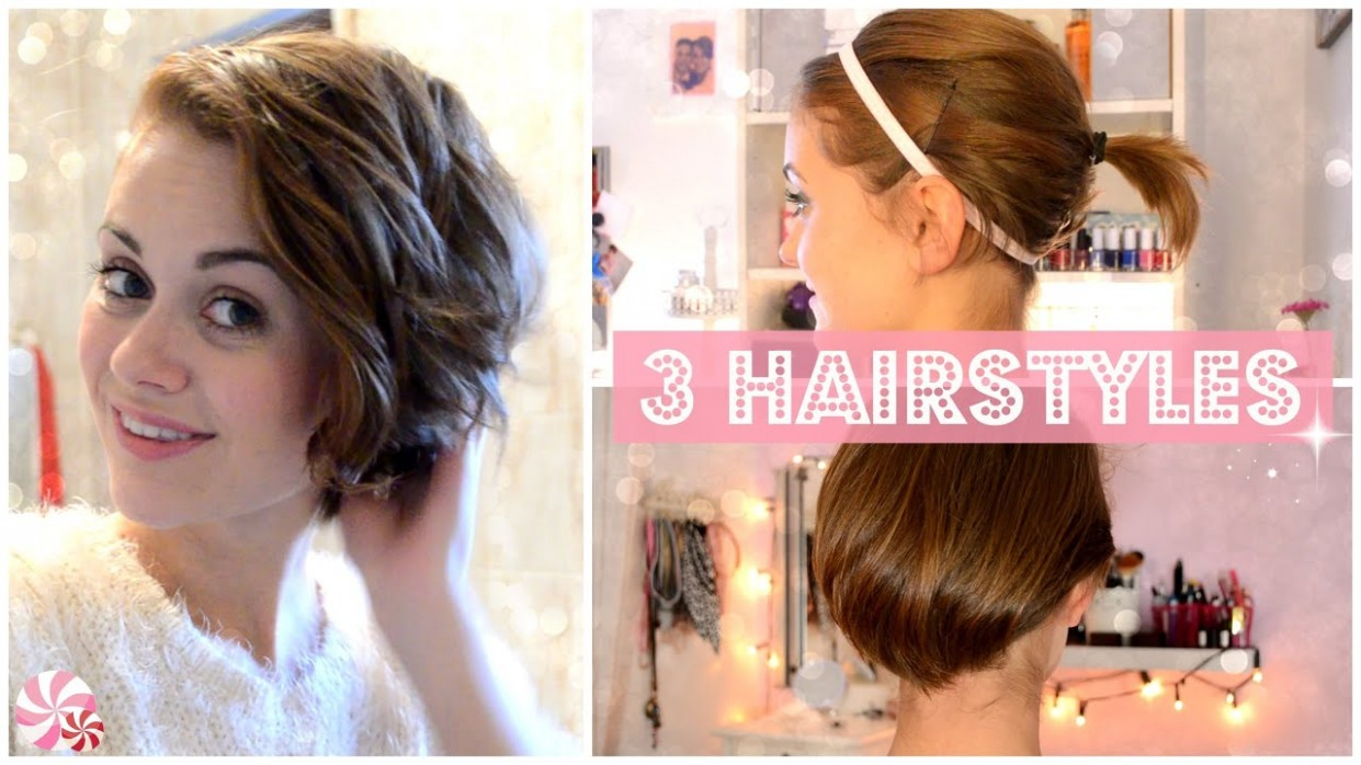 From SHORT To LONG: 12 Easy HAIRSTYLES [ENGLISH] Transition Hairstyles For Growing Out Short Hair