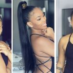 GENIE High Ponytail With WEAVE NO GLUE ! Quick Ali Pearl Hair Long High Ponytail