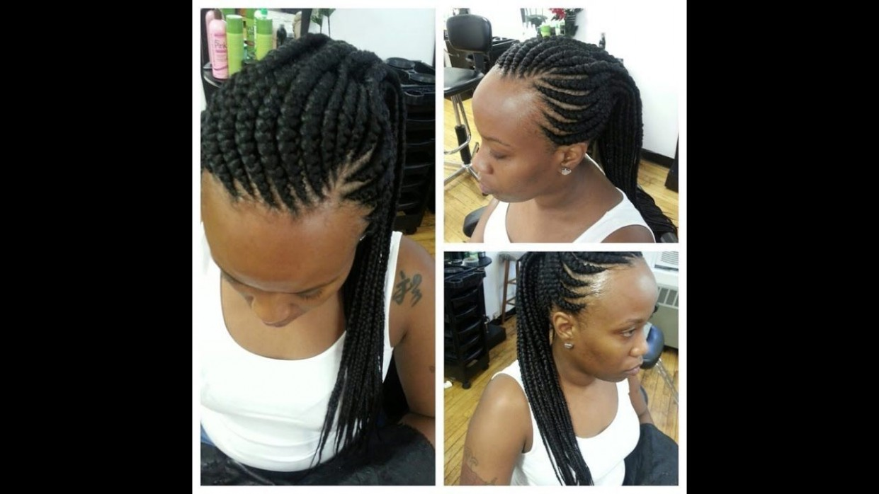 Ghana Weaving Styles For Round Face #CuteGhanaBraids Braided Braids For Round Faces