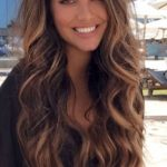 Gorgeous Long Brunette To Balayage Tousled Hair