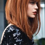 Gorgeous Red Lob With Longer Front Pieces Medium Hair Styles Hair Longer In Front