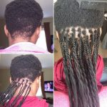 GRIPPING AND BRAIDING VERY SHORT HAIR SENEGALESE TWISTS Box Braids On Very Short Natural Hair