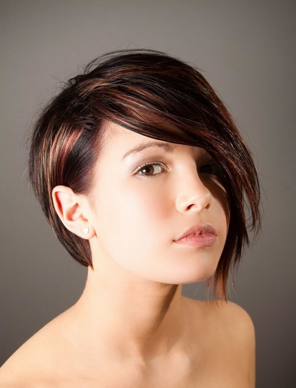 Hairstyles: Bob Hairstyles Long On One Side Hair Short On One Side Long On The Other