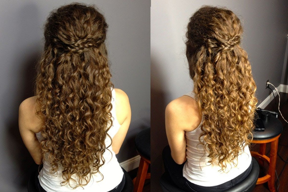 Hairstyles For Curly Hair Down #curly #hairstyles Half Up Half Down Curly Hairstyles