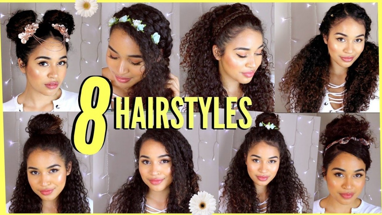 Hairstyles For Curly Hair Summer #curly #hairstyles Cute Easy Hairstyles For Curly Hair