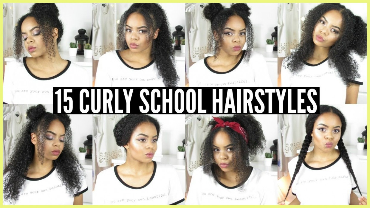Hairstyles For Long Curly Hair For School 12 12 Back To School Hairstyles For Curly Hair For School