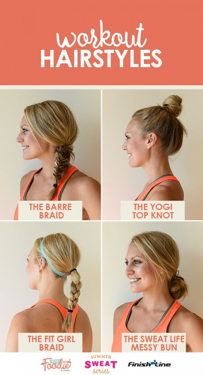 Hairstyles For Long Hair Gym #hairstyles #hairstylesforlonghair Workout Hairstyles For Long Hair