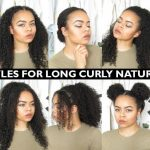 Hairstyles For Long Hair Naturally Curly #curly #hairstyles Cute Easy Hairstyles For Curly Hair