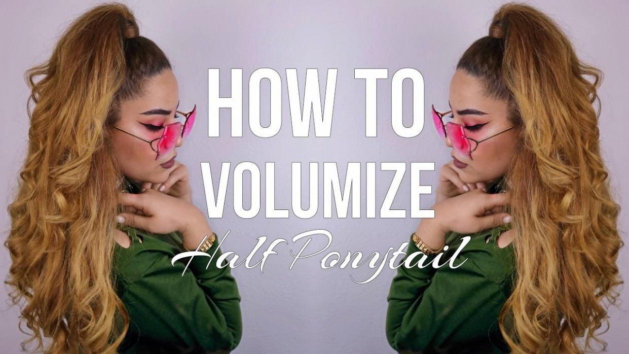 HALF PONYTAIL HAIRSTYLE WITH VOLUMINOUS CURLS Half Ponytail With Curls