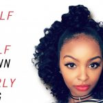 Half Up/ Half Down Short Curly Protective Hairstyle Half Up Half Down Short Curly Hair
