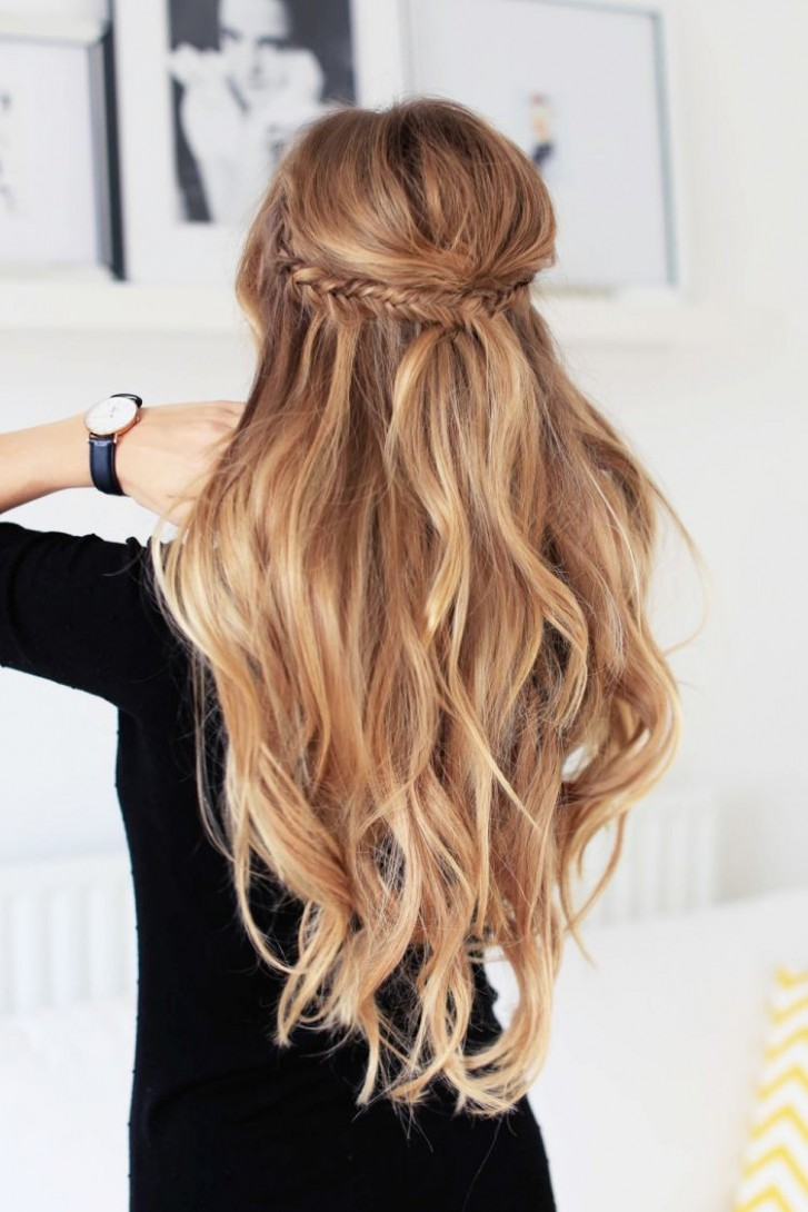 Holiday Half Updo Hairstyle Hair Styles, Wedding Hairstyles For Long Hair Half Up Styles
