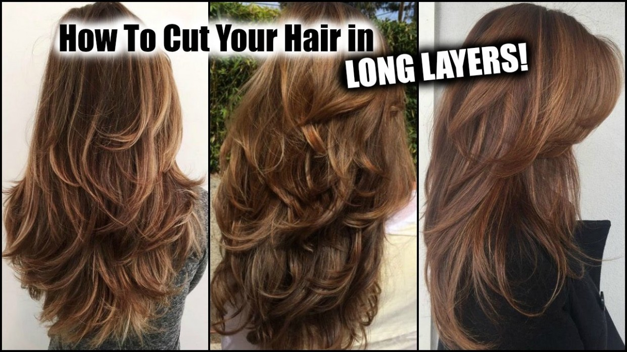 HOW I CUT MY HAIR AT HOME IN LONG LAYERS! │ Long Layered Haircut DIY At Home! │Updated! Layers In Hair Long