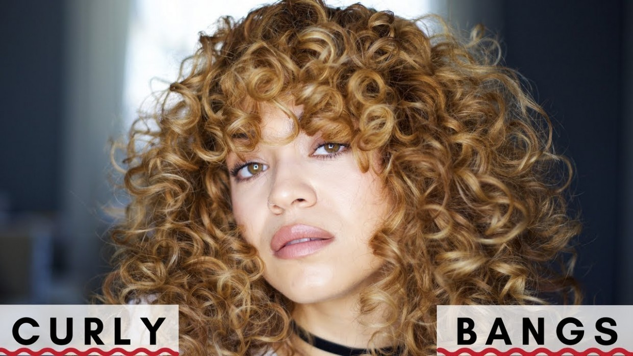 How I Style Curly Bangs!