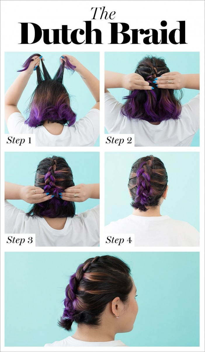 How To Braid Hair: 8 Tutorials You Can Do Yourself Glamour Braids For Short Hair Step By Step