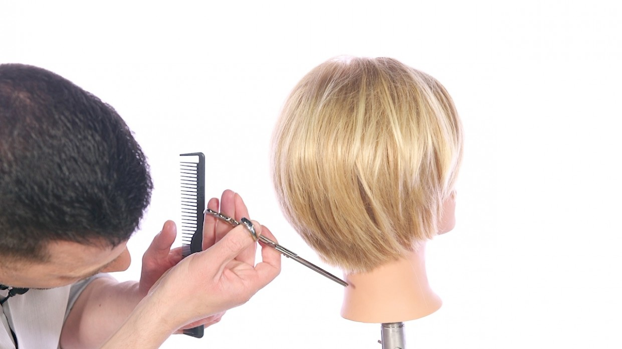 How To Cut A Textured Bob Haircut TheSalonGuy Textured Bob Haircut