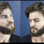 How To Cut And Style Long Hair For Men Collar Length Sweep Back Man Big Hair Style