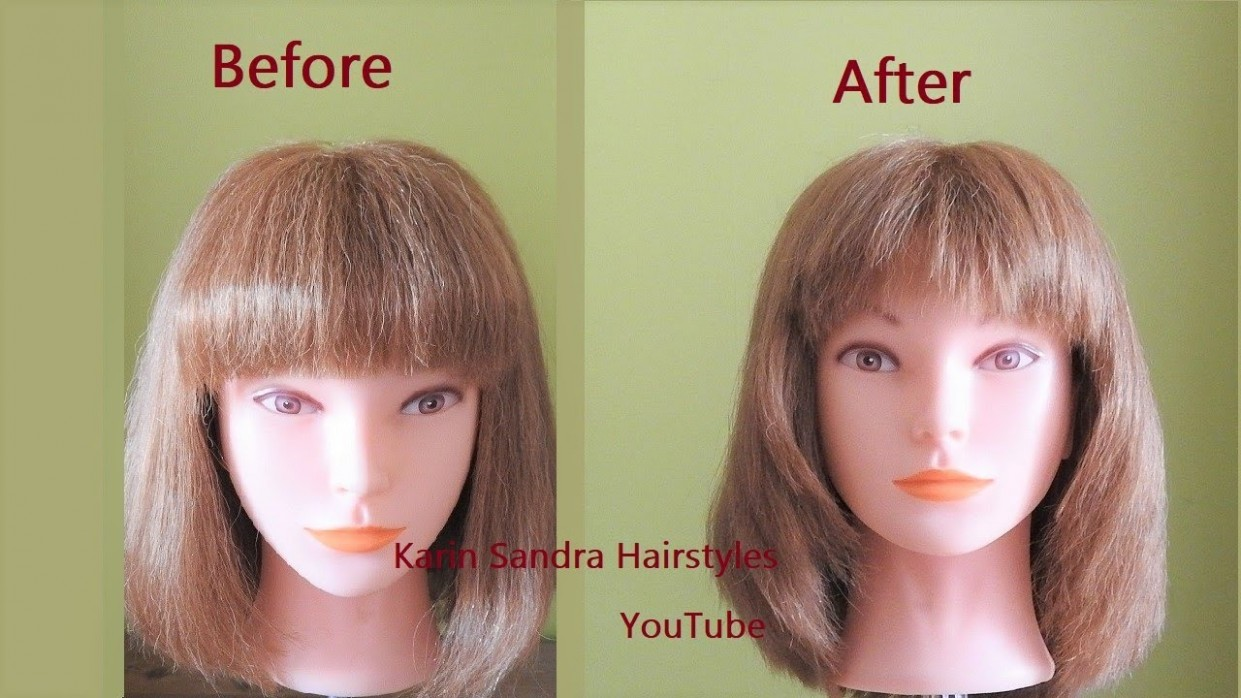 How To Cut Front Framing Layers & Slender Bangs How To Cut Front Layered Bangs Face Framing Layers With Bangs