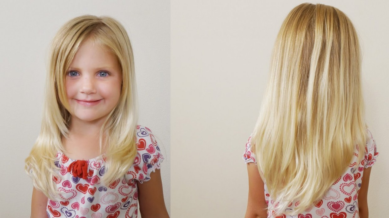 How To Cut Girls Hair // Long Layered Haircut For Little Girls Little Girl Long Haircuts With Bangs