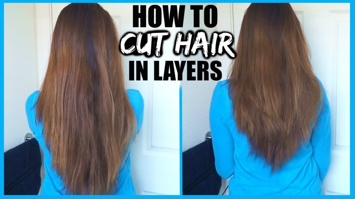 HOW TO CUT YOUR HAIR IN LAYERS AT HOME!│DIY LAYERS IN LONG HAIR│EASY LAYERS HAIR CUTTING TUTORIAL Cutting Long Hair At Home