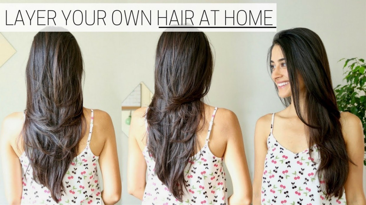 How To Cut Your Own Hair At Home 9 How To Give Yourself A Trim Cut Your Own Long Hair