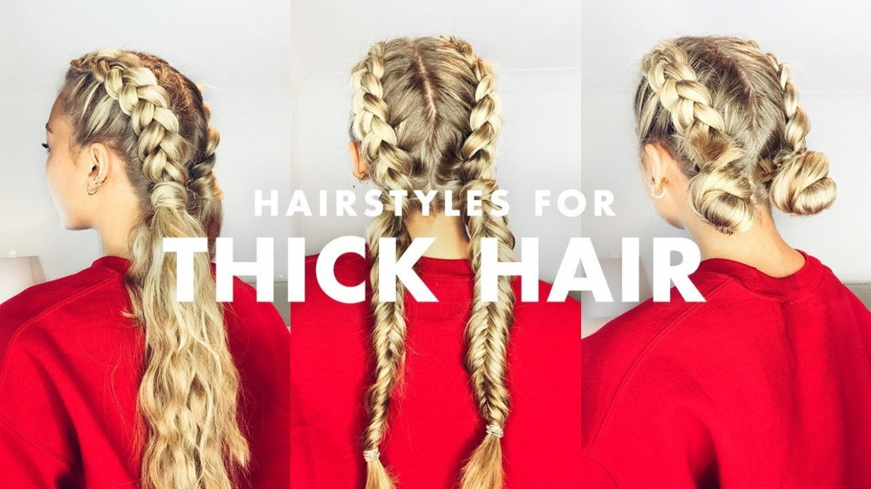 How To Deal With Thick Hair: Three Easy Hairstyles Easy Hairstyles For Thick Curly Hair