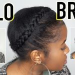 How To Do A REALISTIC Halo Braid On Short 10c Natural Hair!!!Mona B